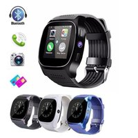 Wholesale smart watch t8 online – T8 Bluetooth Smart Watch For Android Pedometer Smartwatch Support SIM TF Card With Camera Sync Call Message Men Women Watches