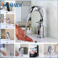 Wholesale touch water faucets online - KEMAIDI Automatic Hands Touch Sensor Faucets Bathroom Brass Sink Chrome Faucets Mixers Taps Basin Faucet Torneira Water Mixer