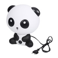 Wholesale Cartoon Panda Lamp - Desk Night Lights Baby Room Cartoon Panda Lamp Bed Lamp Sleeping Night Table With Bulb For Kids Bedroom Accessories