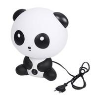 ingrosso lampada da notte del fumetto panda-Lampade da notte da scrivania Baby Room Cartoon Panda Lampada da letto Lampada da notte comodino con lampadina per bambini Camera da letto Accessori