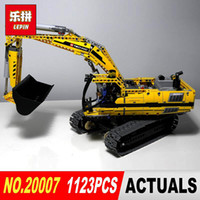 Wholesale Christmas Toy Car - New LEPIN 20007 technic series 1123pcs excavator Model Building blocks Bricks Compatible Toy Christmas Gift 8043 Educational Car