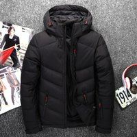 Wholesale north down jackets - 2018 Outdoor north Men's Down Jacket Coat Comfort Breathable Lightweight Warm Solid hooded Headphones Natural Color face jacket 8187