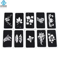 Wholesale glitter henna for sale - Body Art Stencils OPHIR Airbrush Stencils series for Body Painting Glitter Temporary Tattoo Tattoo Henna Template Sheets _TA0