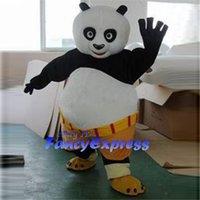 roupas para festa de aniversário venda por atacado-Kung Fu Panda Traje Da Mascote Do Partido Do Aniversário Fancy Dress Halloween Party Outfit Tamanho Adulto