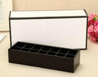2018 classic high-grade acrylic toiletry 14 grid storage box   cosmetic accessories storage with gift packing