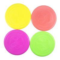 chien volant disque frisbee achat en gros de-Pet Dog Frisbee Disk Silicone Disque Volant Animal Jouet Entraînement Pour Grand, Paquet De 20 Silicone Non Toxique 5 Color Select