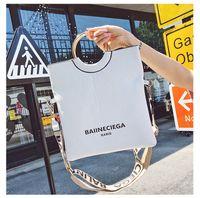 Wholesale metal handles for handbags resale online - SHOP New Metal Top Handle Luxury Square Bag Women Purse And Handbags Vintage Shoulder Letters Bags For Women Xiangqiwu