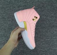 ingrosso le scarpe delle prugne delle donne-Donne 12s GS Hyper Pink 12 Plum Fog Flu Gioco Scarpe da pallacanestro Ragazze Maestro Sneakers da taxi