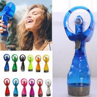 ventiladores de pulverização de água venda por atacado-Mini Mão Held Spray de Viagem Portátil Lidar Com Spray de Água Fria Névoa Fã Garrafa de Névoa Esporte Viagem Praia Acampamento AAA285