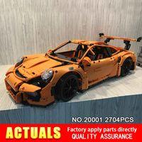 Wholesale Model Cars Kits - New LEPIN 20001 technic series Race Car Model Building Kits Blocks Bricks Compatible 42056 Boys Gift Educational Toys
