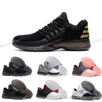Wholesale Lighted Outdoor Christmas Star - 2017 New Harden Vol.1 Men Basketball Shoes James Harden ALL-Star No Brakes BHM Black Gold Pioneer Home Cargo Christmas Shoes Sneakers