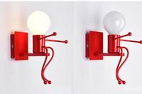 исследование куклы оптовых-Новинка Regron Промышленный Lilliput Doll Настенный светильник Светодиодные настенные светильники Бра Детская комната Спальня Кабинет для чтения Ванная комната Кафе Лофт