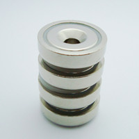 starke magnets versenkt großhandel-Neue super starke 4 stücke dia25mm pot magnet 14kg ziehen neodymum pot magnet dia25x7.7mm mit m5 senkkopf loch montage magnetischer topf