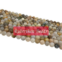 Wholesale NB0079 Natural Stone Bamboo Leaf Agate Loose Beads High Quantity Stone Many Size Round Beads Jewelry Making Accessory