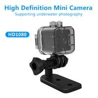 su geçirmez dijital video camcorder toptan satış-SQ12 HD1080P Su Geçirmez Mini Kamera Kızılötesi Gece Video Kaydedici Spor Dijital Kamera Desteği TF Kart DVR Kamera