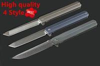 cuchillos de caza de acero d2 al por mayor-Campamento portátil de supervivencia caza cuchillo plegable rescate al aire libre pesca táctica combate tirón Cuchillos de acero D2 Autodefensa herramientas de titanio EDC