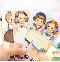 marcadores kawaii al por mayor-12 set / lote 30 Unids por juego NUEVA Marca de lujo de la muchacha de dibujos animados kawaii marcas de libro de Muñecas serie de las muchachas Book book bookband Al Por Mayor