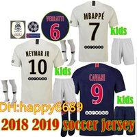 54e9f5f08 2018 2019 children MBAPPE 7 PARIS away white DI MARIA SOCCER  JERSEYSVERRATTI MATUIDI CAVANI MAILLOT DE FOOT CAMISA KIDS FOOTBALL SHIRTS