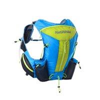 sırt çantası döngüsü toptan satış-Naturehike 12L Maraton Nemlendirici Sırt Çantası Unisex Seyahat Trekking Koşu Için Su Geçirmez sırt çantası Tırmanma Sırt Çantası