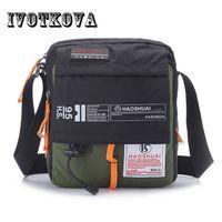 Wholesale male thighs - IVOTKOVA High Quality Men Nylon Crossbody Bag Multifunction Male Shoulder Handbag Brand Messenger Bag Travel Drop Thigh Pouch