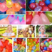 top oyunları toptan satış-Yeni Lateks Su Balon Topları Su Bomba Pompası Hızlı Enjeksiyon Yaz Plaj Oyunları Su Sprinking Balonlar Parti Malzemeleri I156