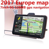 Wholesale new truck gps - Oriana free shipping New 7 inch Car GPS Navigation FM 8GB 128M New Maps For Russia Belarus  Europe USA+Canada TRUCK Navigator