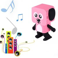 Wholesale Phones For Children - Smart Dancing Dog Speakers Mini cartoon Bluetooth Dance Robot Dog Speaker Lovely for the Children Gift