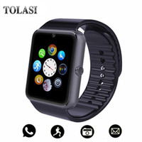 ingrosso telefoni di grande schermo-Bluetooth Smart Watch uomini con touch screen grande supporto per batteria TF Sim Card Camera per IOS iPhone Android Phone PK A1 SmartWatch