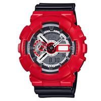 Wholesale boys lighting watch - Relogio- new shock digital LED, GA110 AAA big boy sports watch, all functions, automatic lighting, BOX, waterproof watch, multi area time