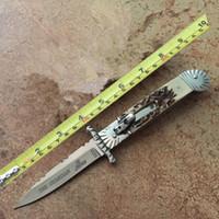 ingrosso coltelli hubertus-Hubertus Solingen angelo custode pieghevole coltello bordo lama automatica coltello automatico maniglia trasporto libero
