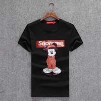 Wholesale german t shirts - 2018 Original German Brand Men's Short Sleeve T-shirt Fashion Crime designer Skull Hip Hop High Quality Print Medusa qp T-shirt M6883
