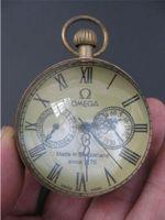 relógio de bolso de vidro da bola venda por atacado-Requintado relógio de bolso de relógio de bolso de vidro de cobre do vintage chinês