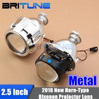 объектив h4 оптовых-2.5'' Pro-HL WST H1 Bixenon Projector Lens For H4 H7 Car Headlight Retrofit W/WO Gatling Gun Shrouds Silver/Black Full Metal Kit