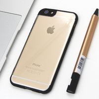 Wholesale cases make - Clear transparent TPU PC Silica gel silicone Case cover For iphone 8 7 6 plus colorful Can make logo
