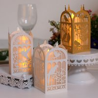 Wholesale Laser Cut Hollow Lampshade for LED small tea light Apply to Festival Date Birthday and so on Beautiful Paper lamp cover