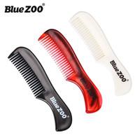 ingrosso baby oem-Bluezoo Moustache Combs 3 colori per uomo Baby Hair Cura della barba Pettine portatile da uomo a forma di barba Strumento stampa OEM logo DHL