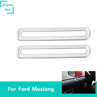 Wholesale mustangs accessories online - Sliver Door Vent Decoration Circle ABS Decoration Trim Ring Fit Ford Mustang High Quality Auto Interior Accessories