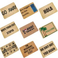 Wholesale funny mats - Rubber Bath Mats Funny English Letter Printing Carpet Water Uptake Non Slip Footcloth Mould Proof Bathroom Accessories Brown 12 99bh1 CB