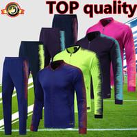 calças compridas venda por atacado-2019 espanha barcelona jaqueta de  futebol treino Fluorescente verde Azul 763f80a6eb27a