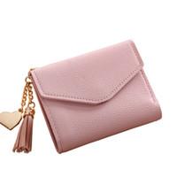 392699aa1f 2018 nuova moda solido nappa donne portafoglio per carte di credito piccola  pelle di lusso breve donna mini portafogli e portamonete zipperhasp