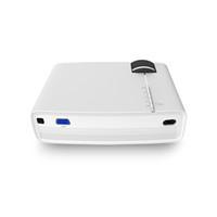mini multimedya pc toptan satış-YG400 Multimedya Taşınabilir Mini LED Projektör 1000 Lümen ev sineması PC USB HDMI AV VGA SD Ev Sinema Projektörü için