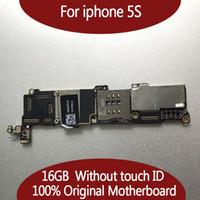 Wholesale Apple Board - For IPhone 5S Original Motherboard 16GB 32GB Logic Board Unlocked NO Touch ID 100% Good Working mainboard IOS system card