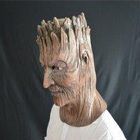 ingrosso maschera albero-Birtyday Divertente Latex Tree Demone Maschera per feste in maschera Halloween Maschera in silicone Festival Puntelli per feste Costume Cosplay Maschera Cosplay