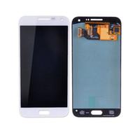 toque samsung e5 al por mayor-Para Samsung Galaxy E5 E500 E500H / M / F Pantalla LCD digitalizador Pantalla táctil Brillo ajustable. Montaje ferr DHL