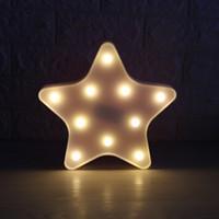 luzes do feriado da estrela da noite venda por atacado-3D luz da noite do diodo emissor de luz mesa romântica mesa noite luz estrela besta cabeça decorativa lâmpada para quarto crianças quarto de crianças escritório presente de feriado