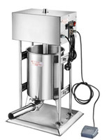Wholesale stainless steel enema - Automatic Stainless steel Vertical Commercial horizontal Sausage Stuffer Filler Machine Manual 10L enema machine sausage filler