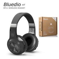 ingrosso tiro bluetooth-Cuffie Bluetooth 100% originali Bluedio HT (freni di ripresa) Cuffie Bluetooth stereo BT4.1 Cuffie senza fili per telefoni Musica