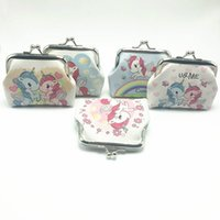 Wholesale wholesale womens bags purses - New Fashion Mini Unicorn Pattern Womens PU Wallets Holders Party Home Cute Coin Purses Gifts 24 p