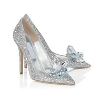 Wholesale diamond gold shoes - Hot selling new 2018 star with the tip pointed diamond high heels crystal shoes thin with sexy shoes bridesmaid wedding shoes woman pumps