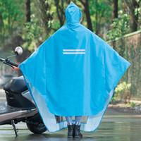 bisiklet yağmurluk erkek toptan satış-Yetişkin Açık Yağmurluklar Erkekler Motosiklet Bisiklet Su Geçirmez Panço Kapşonlu Yağmurluk Kadın Yağmurluk Çapa De Chuva Yağmur Takım 50C0131